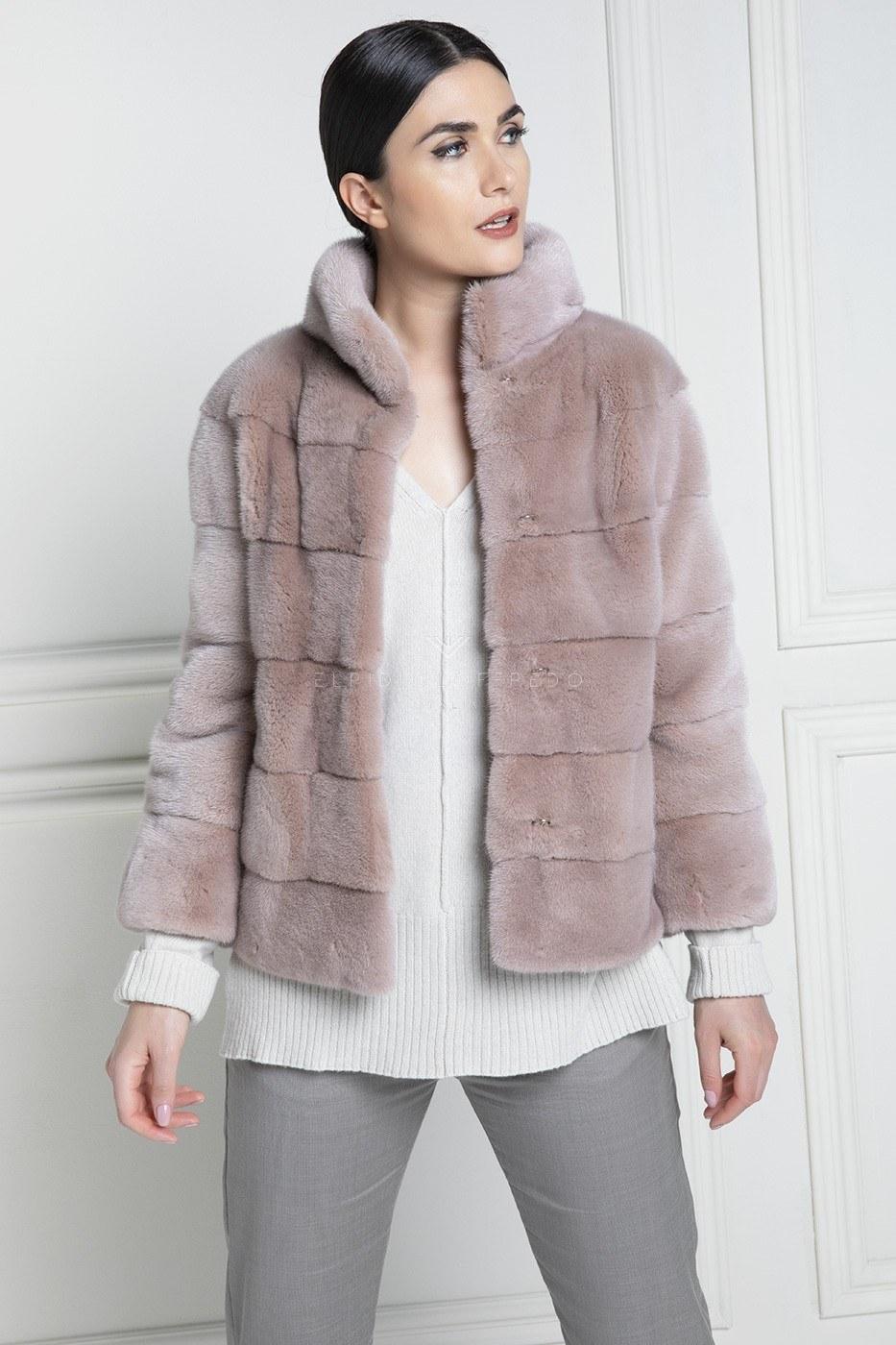 Жакет из Розовой Норки Kopenhagen Platinum Quality - Длина 65 см