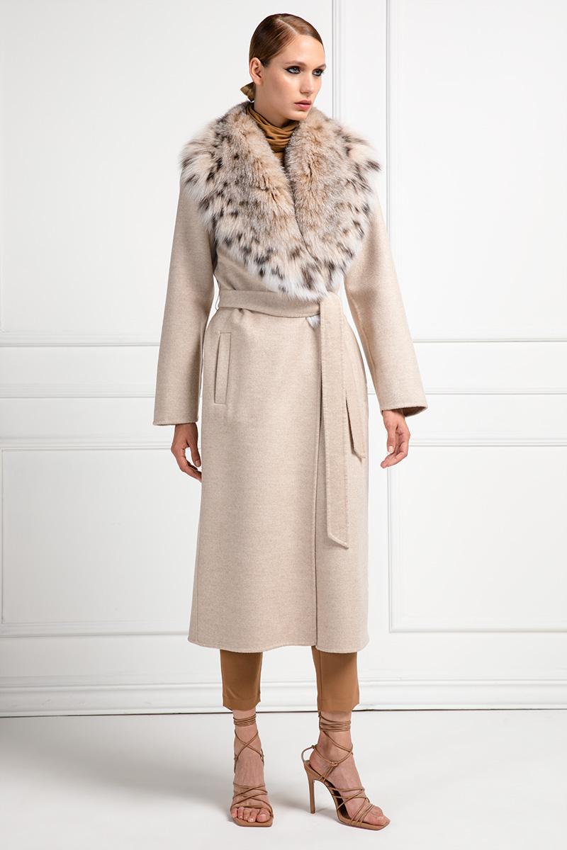 Cashmere Loro Piana Coat with Lynx Fur