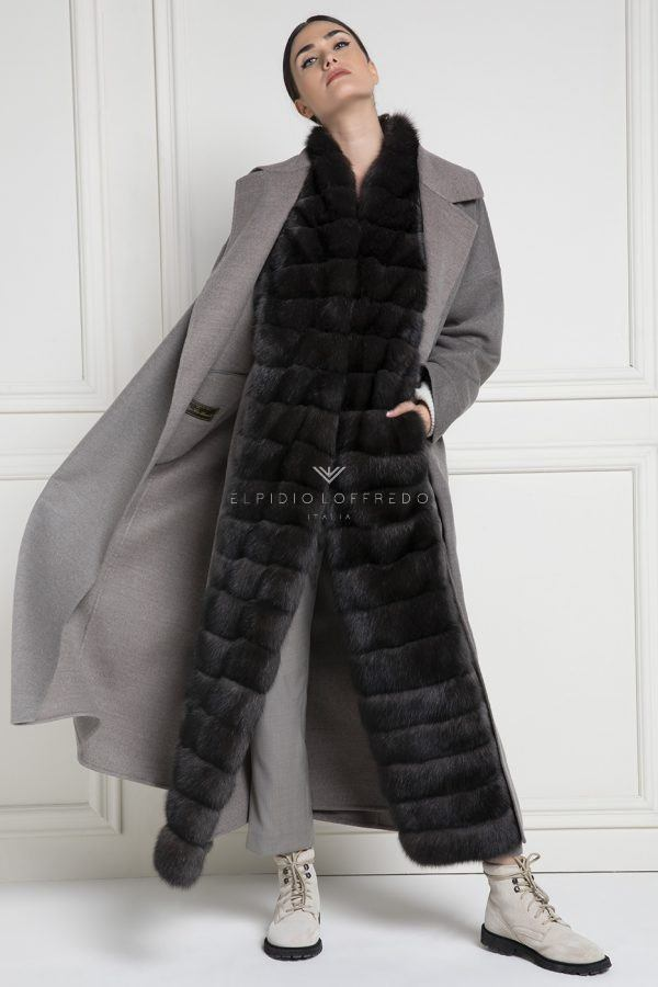 Cashmere Loro Piana Coat with Barguzinsky Russian Sable Fur