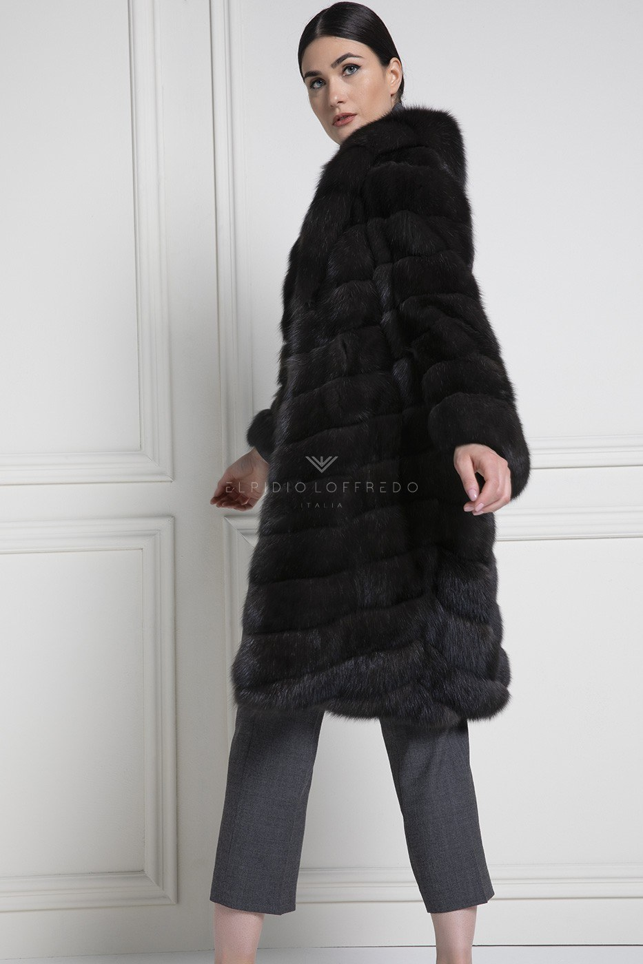 Barguzinsky Russian Sable Silvery 3 Fur - Grafite Color - Length 90 cm