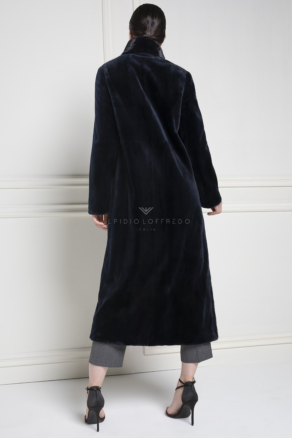 Sheared Mink Coat with Rever Collar - Length 120 cm