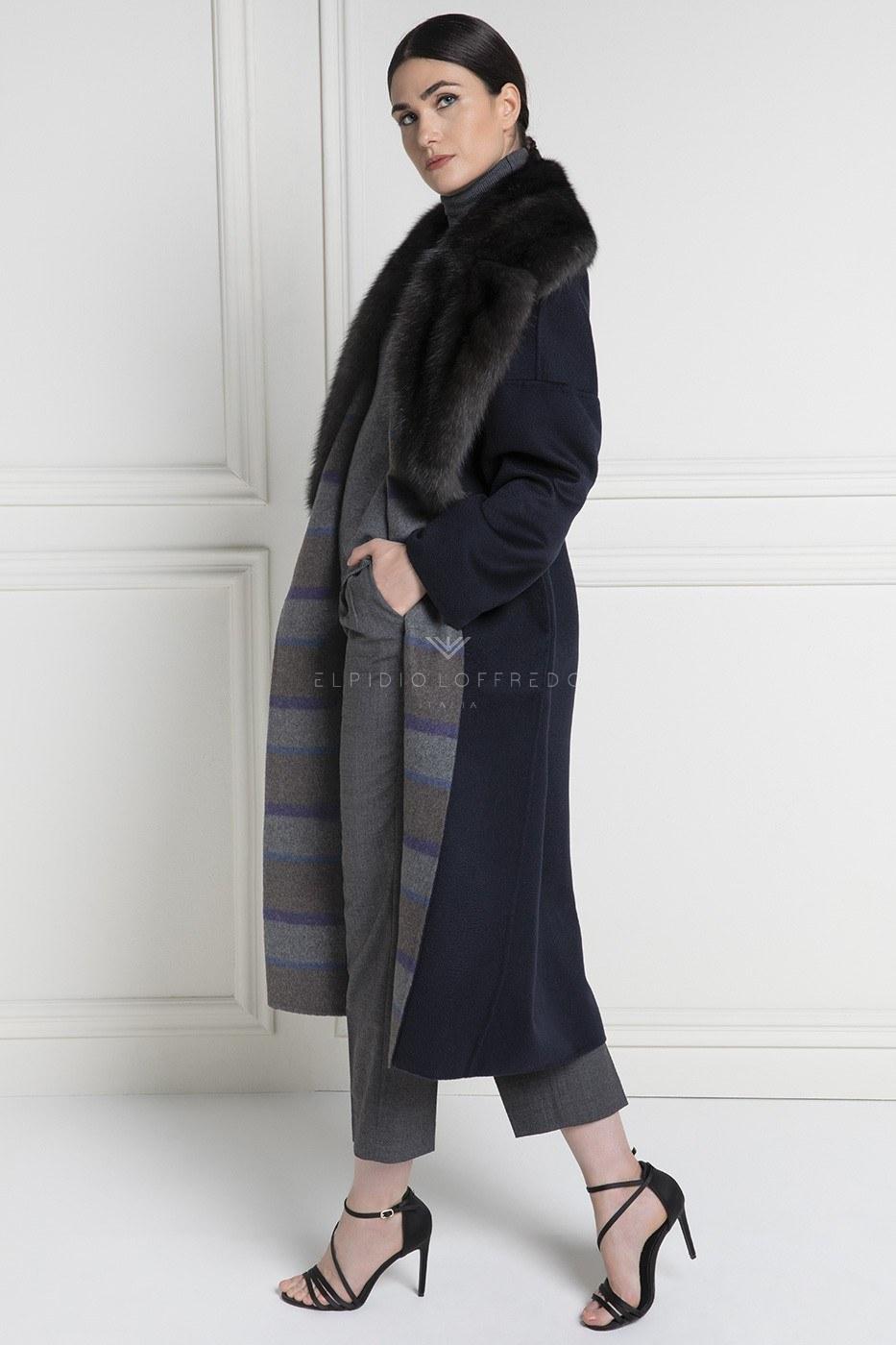 Cappotto di Cashmere Loro Piana con Pelliccia di Zibellino Russo Barguzinsky