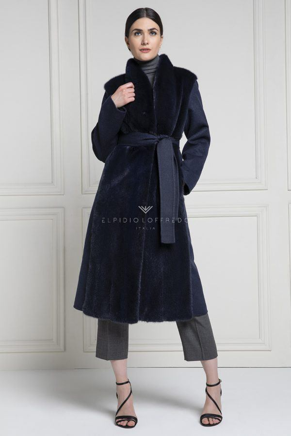 Сashmere Loro Piana with Mink Fur and whole skins - Length 110 cm
