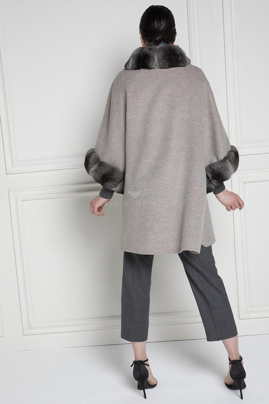 Cashmere Loro Piana Coat with Chinchilla Fur