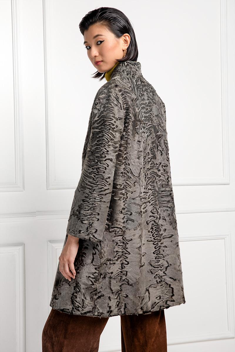Stone Swakara Coat