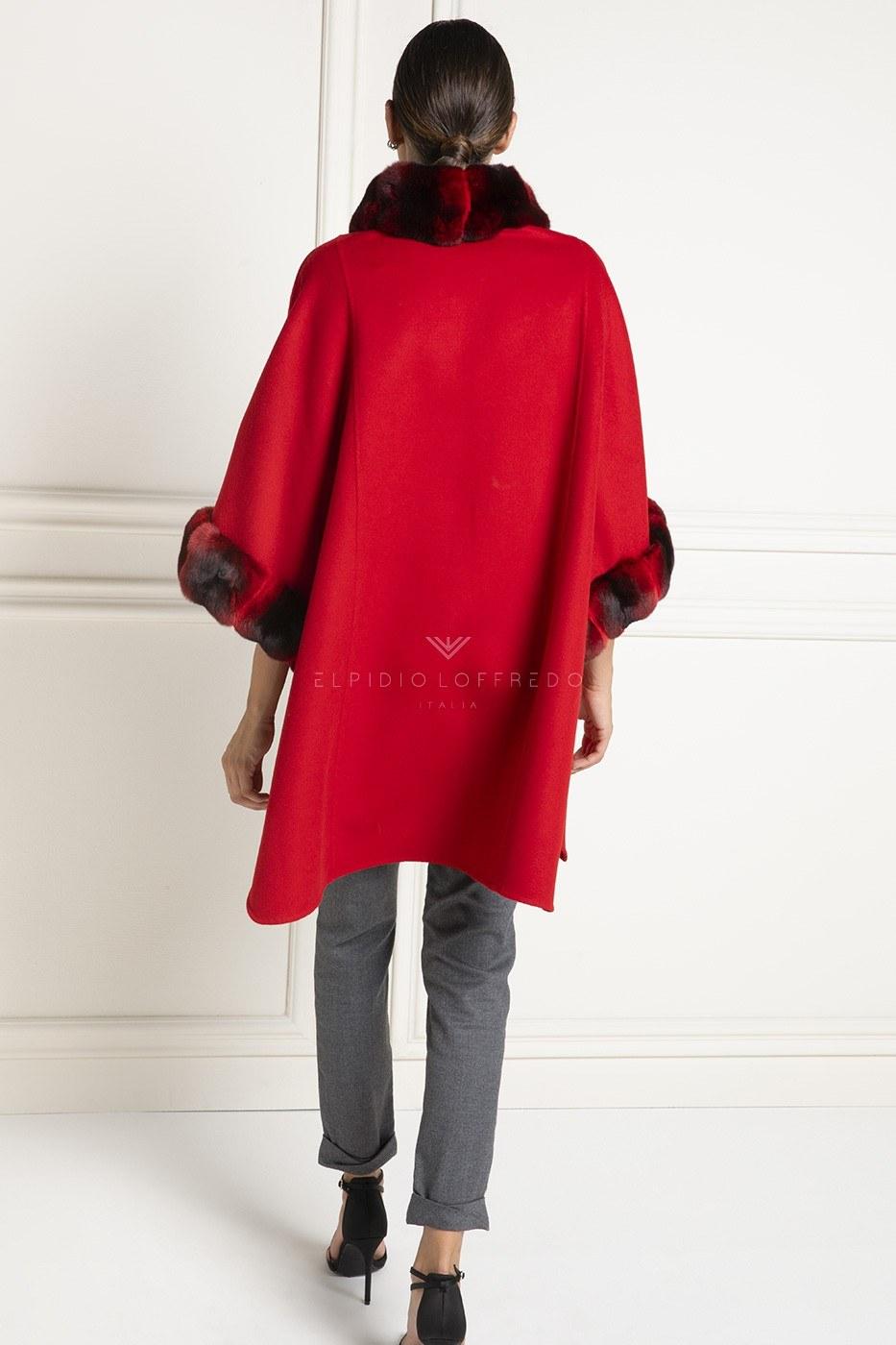 Кашемир Loro Piana с Красной Шиншиллой - Длина 85 см