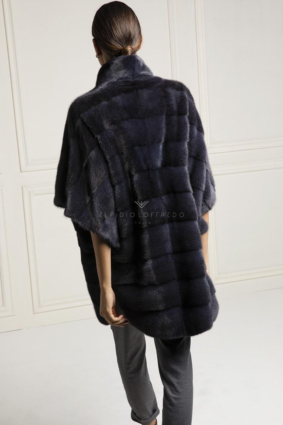 Black Cross Female Mink Coat - Length 85 cm