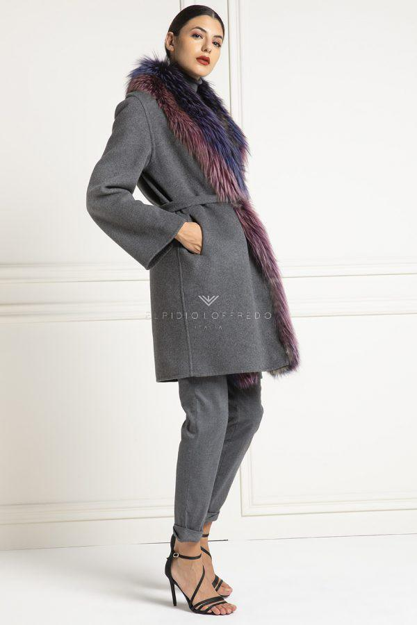 Cashmere Loro Piana with Fox Fur - Length 90 cm