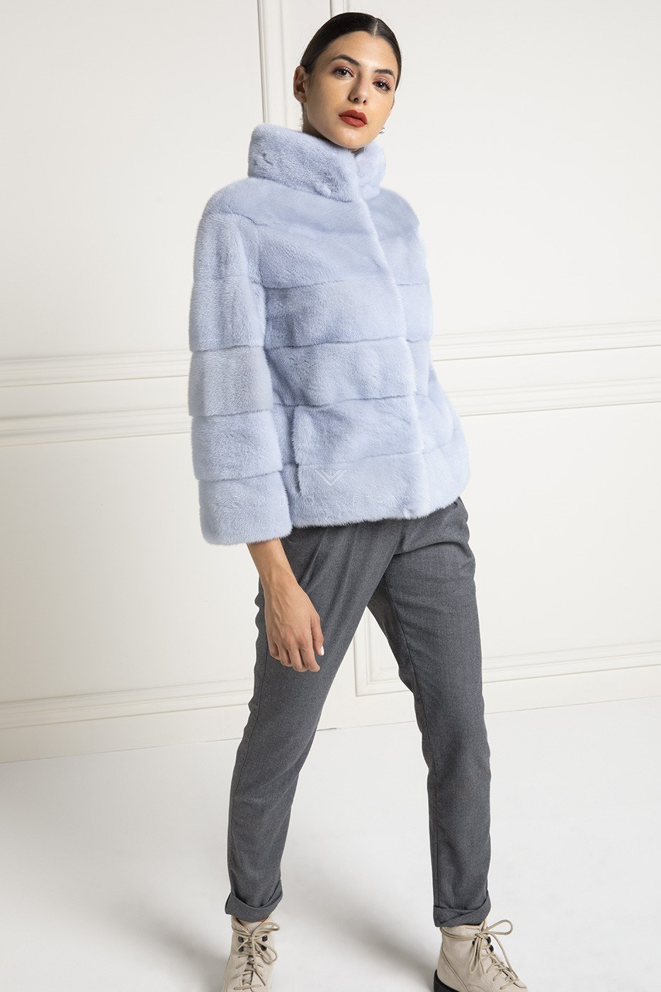 Sky Mink Jacket - Length 65 cm