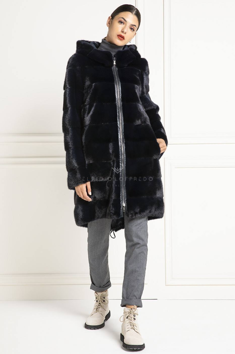 Double Face Mink Parka - Length 100 cm