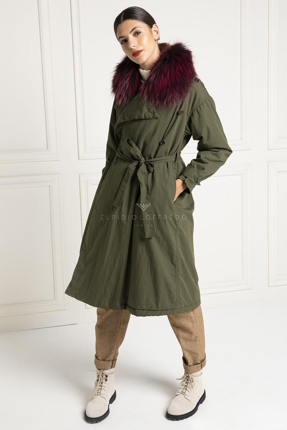Parka with Fox and Goose Down