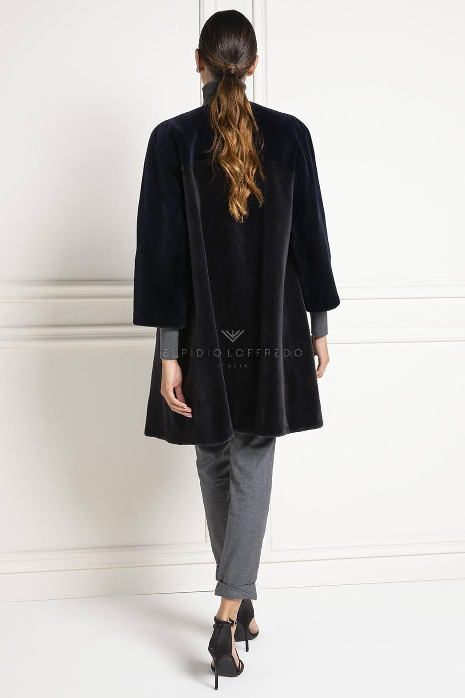 Cappotto di Visone Rasato - Lunghezza 80 cm
