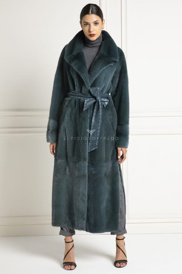 Mink Coat with Double Face - Length 130 cm