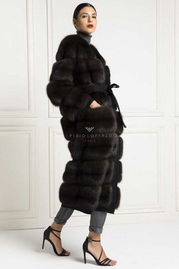 Barguzinsky Russian Sable Coat with Loro Piana Cashmere - Dark Color