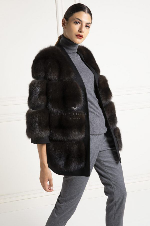 Barguzinsky Russian Sable Jacket with Loro Piana Cashmere - Dark Color