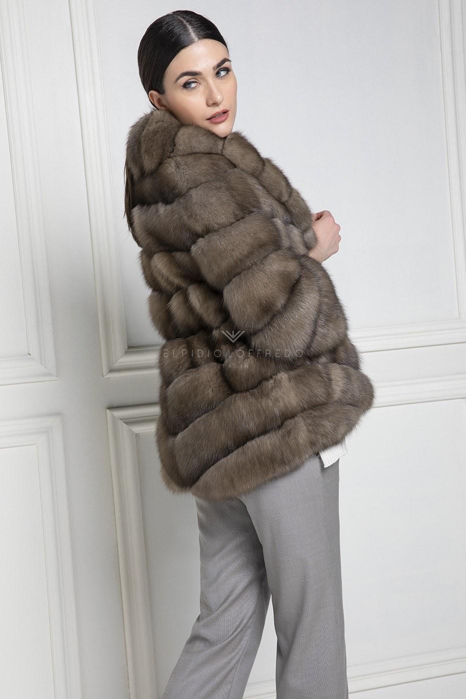 Barguzinsky Russian Sable Fur - Titanio Color - Length 70 cm