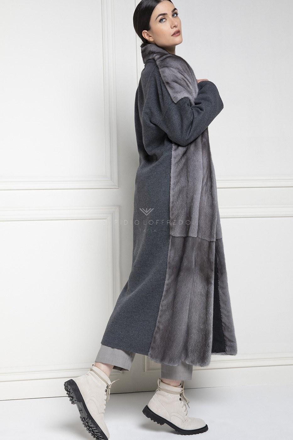 Кашемир Loro Piana с Норкой Blue Iris Качество Nafa - Длина 130 см