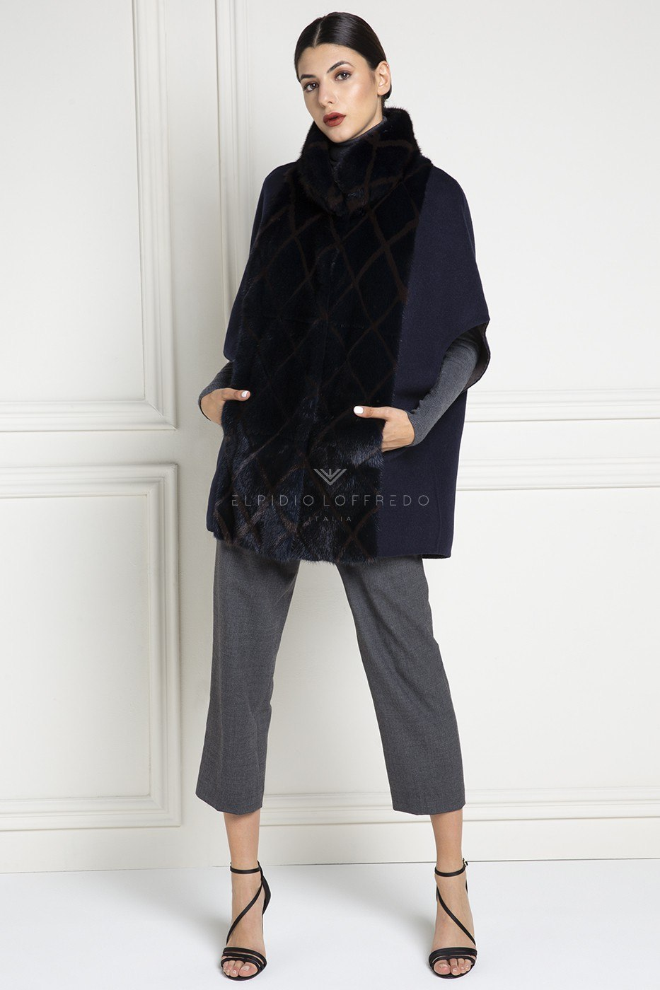 Cashmere Loro Piana Capes with Mink Fur