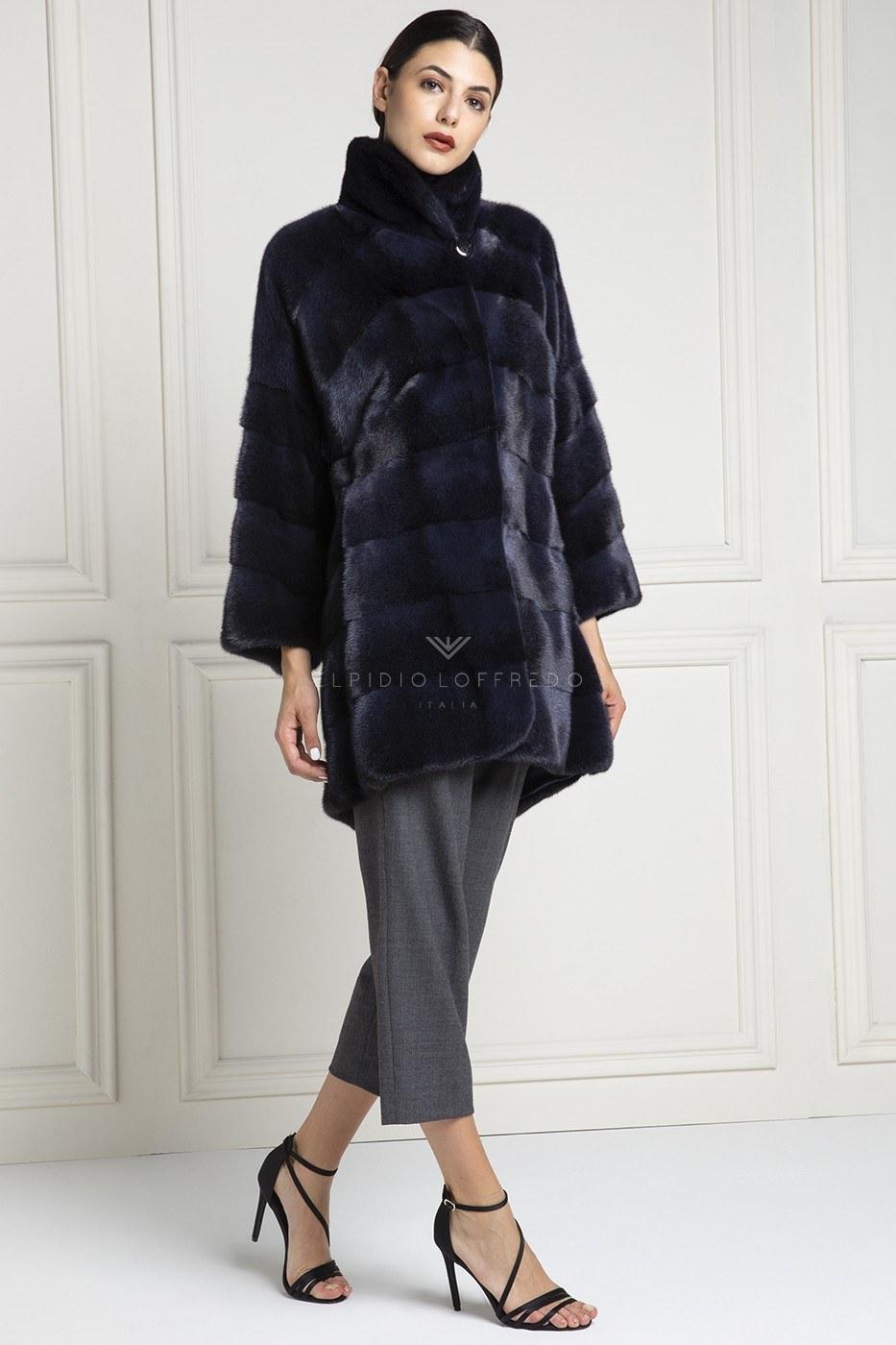 Cappotto di VisoneBlue Cross - Lunghezza 90 cm
