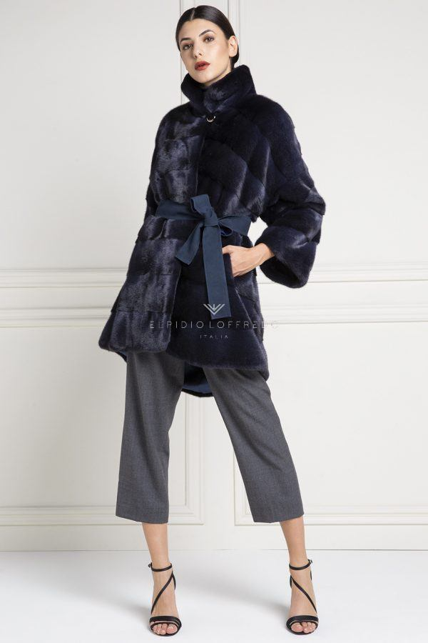 Cappotto di Visone Blue Cross - Lunghezza 90 cm