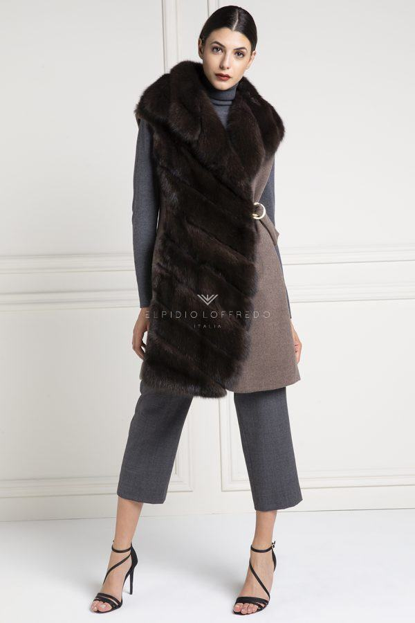 Cashmere Loro Piana Vest with Barguzinsky Russian Sable Fur