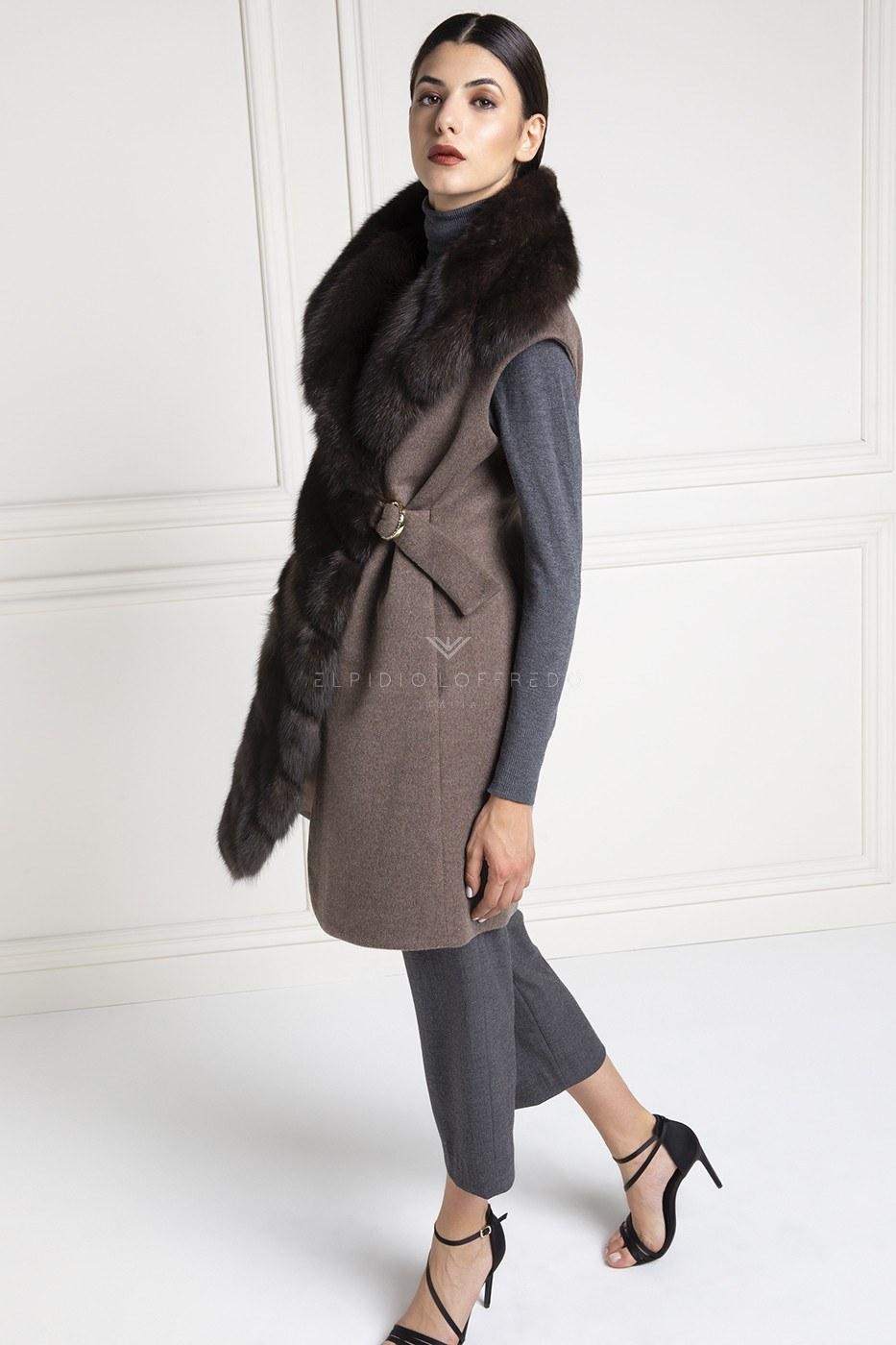 Cashmere Loro Piana Vest with Barguzinsky Russian Sable Fur