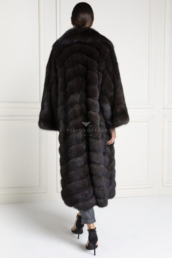 Barguzinsky Russian Sable Coat - Grafite Color - Length 125 cm