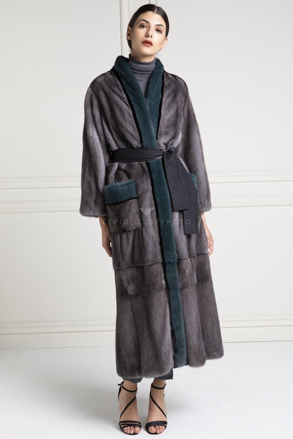 Cappotto di Visone Blue Iris - Lunghezza 130 cm