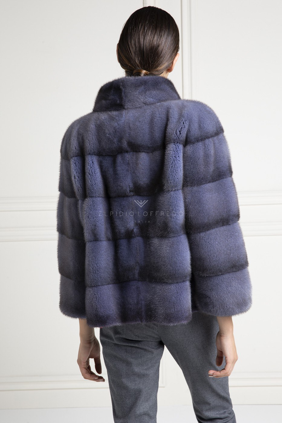 Blue Jeans Mink Jacket - Length 65 cm