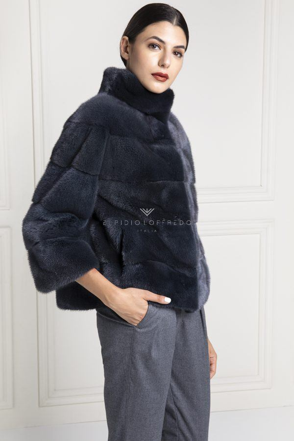 Grey Mink Jacket - Length 65 cm