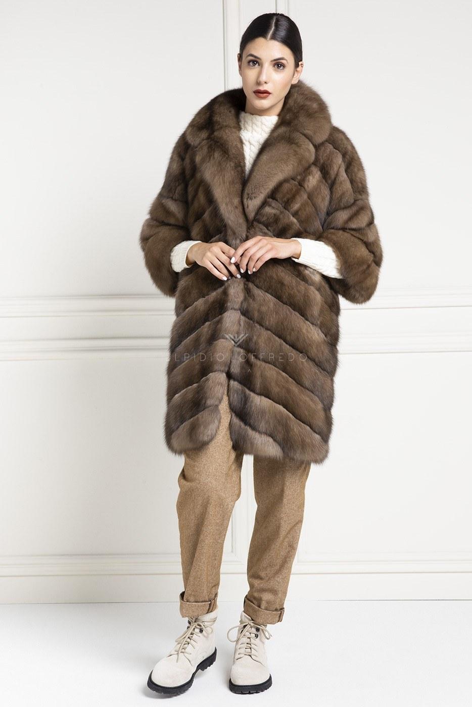 Barguzinsky Russian Sable Fur - Titanio Color - Length 90 cm