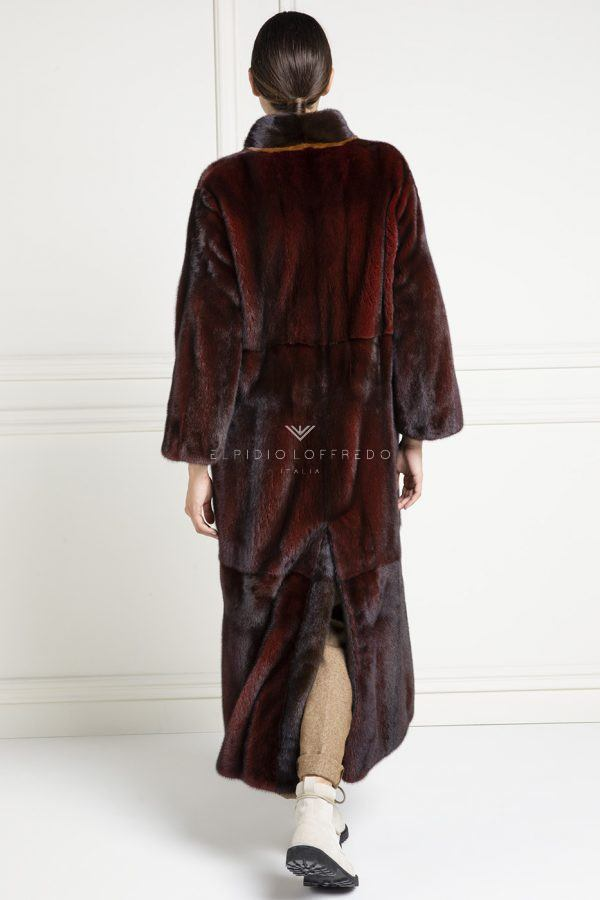 Red Mink Coat - Length 130 cm