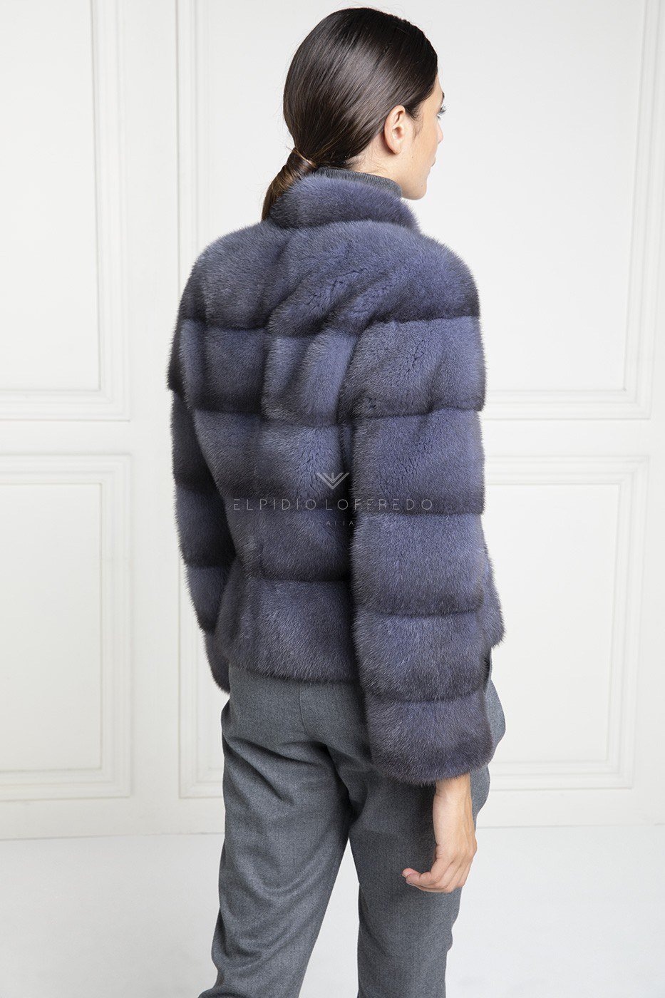 Giacca di Visone Blue Jeans con cerniera - Lunghezza 60 cm