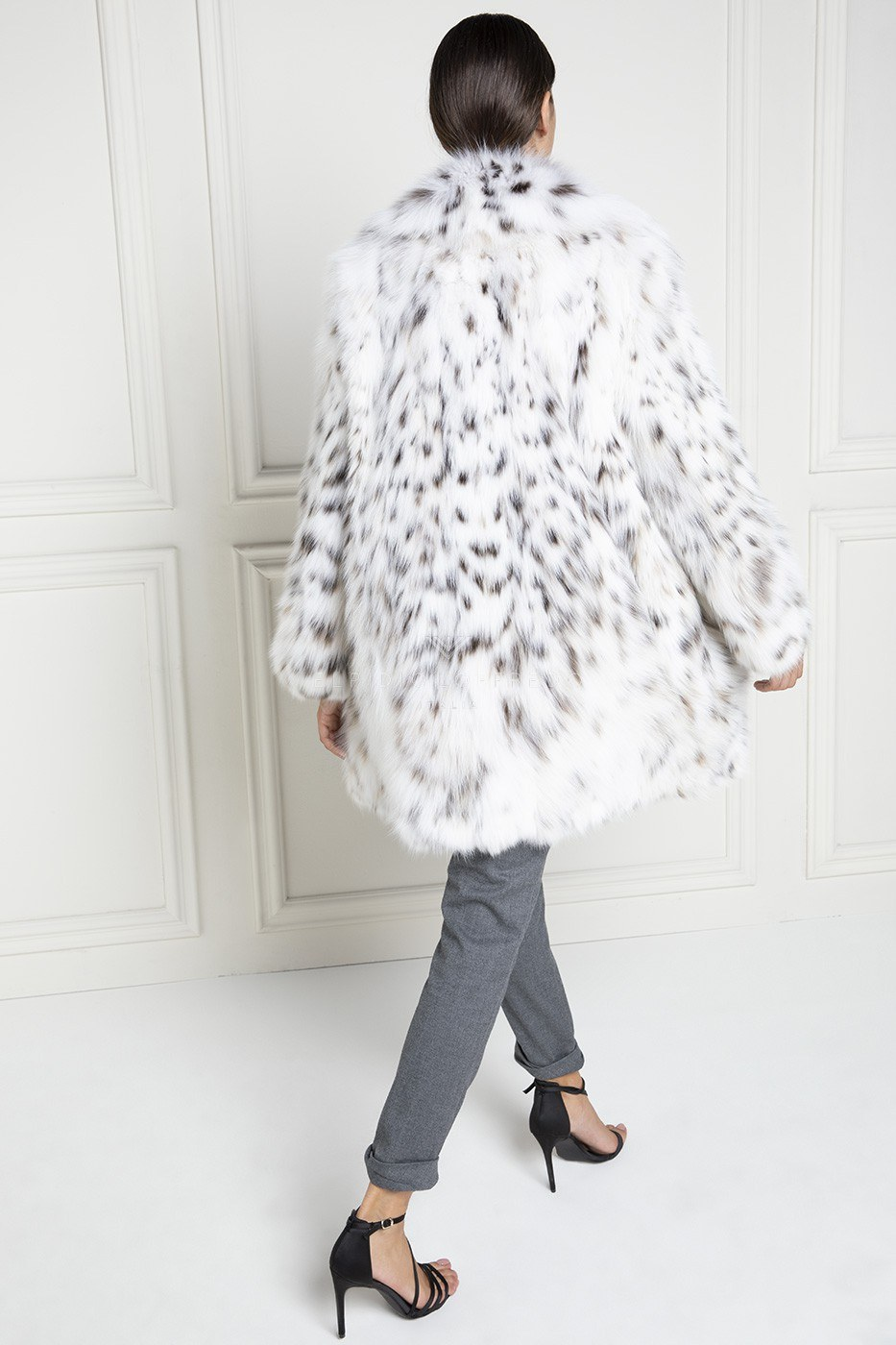 Lynx Fur with Shawl Collar - Length 90 cm