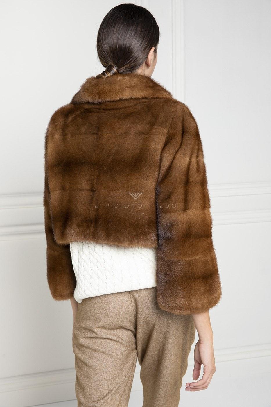 Brown Mink Jacket - Length 40 cm