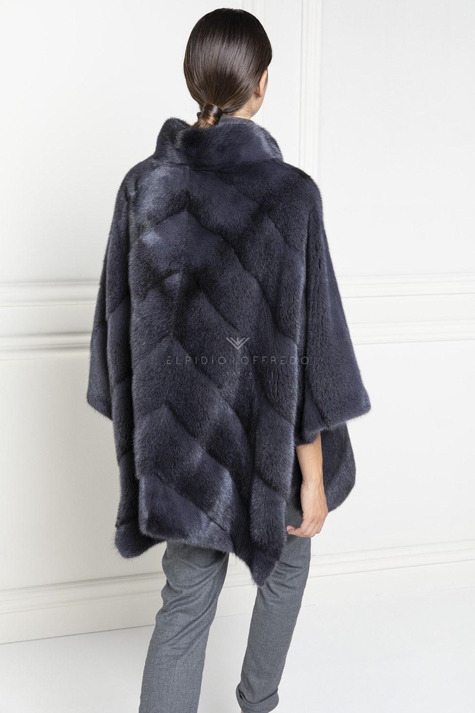 Blue Cross Mink Jacket - Length 75 cm
