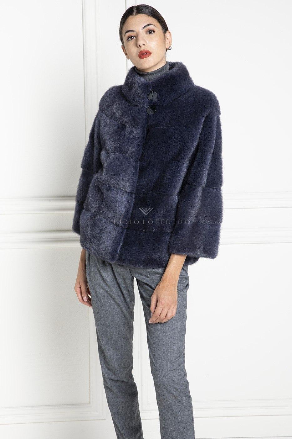 Blue Mink Fur - Length 65 cm
