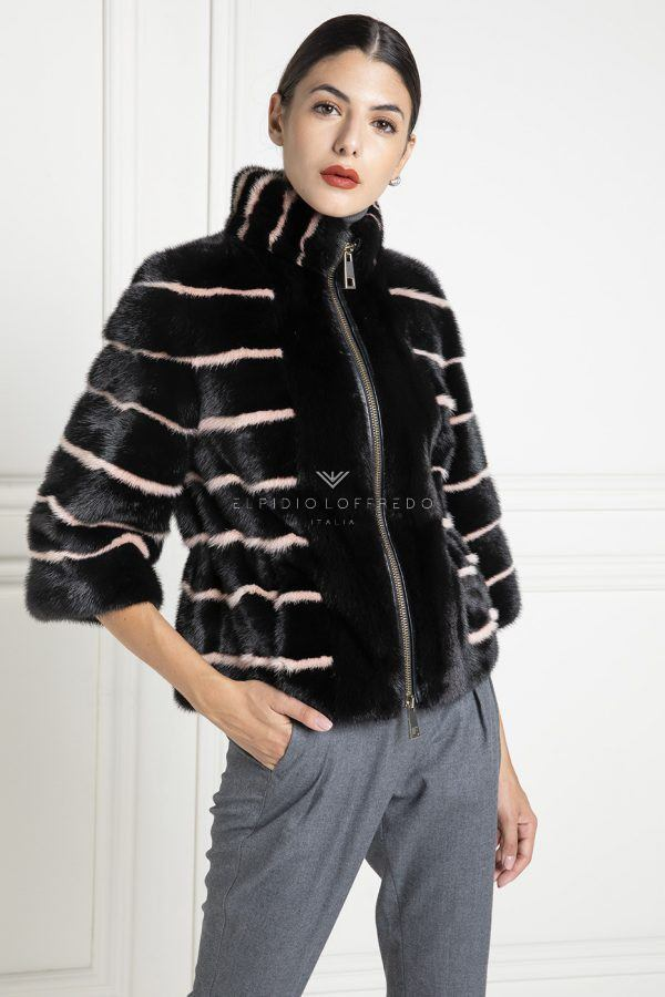 Black Mink Jacket - Length 60 cm
