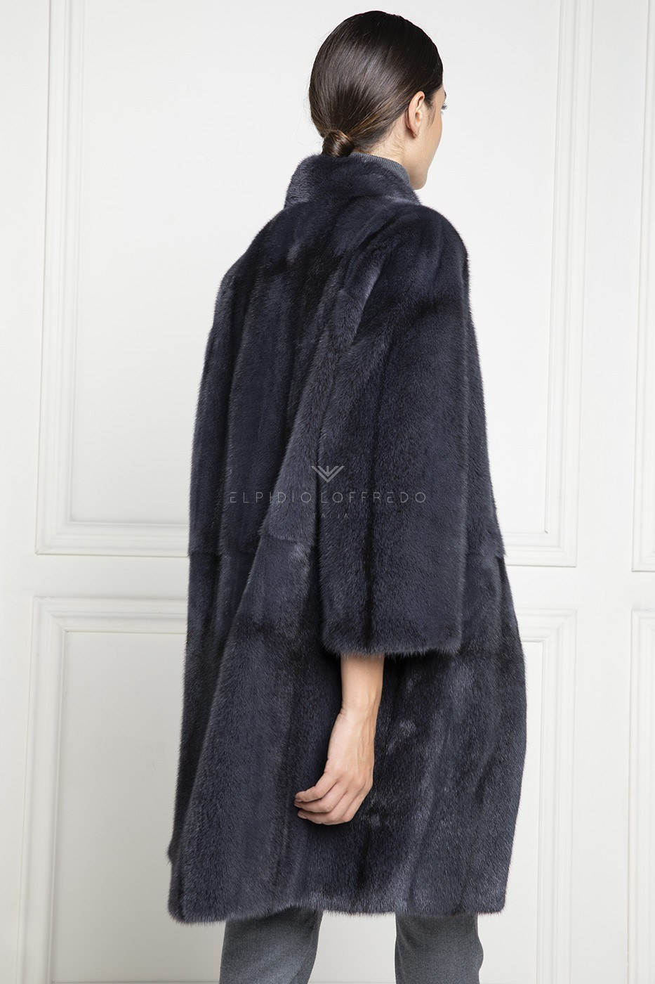 Blue Cross Mink Coat - Length 95 cm