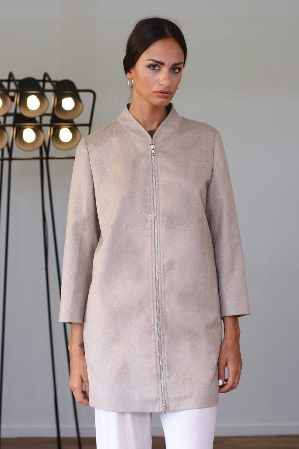 Cappotto di Cashmere Loro Piana con Visone - Lunghezza 80 cm
