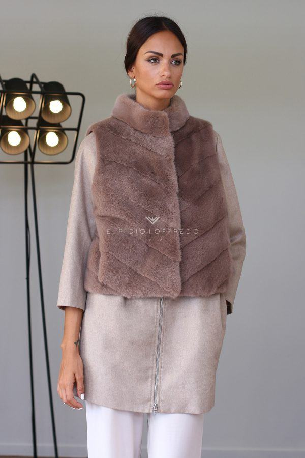 Сashmere Loro Piana with Mink Fur - Length 80 - 50 cm