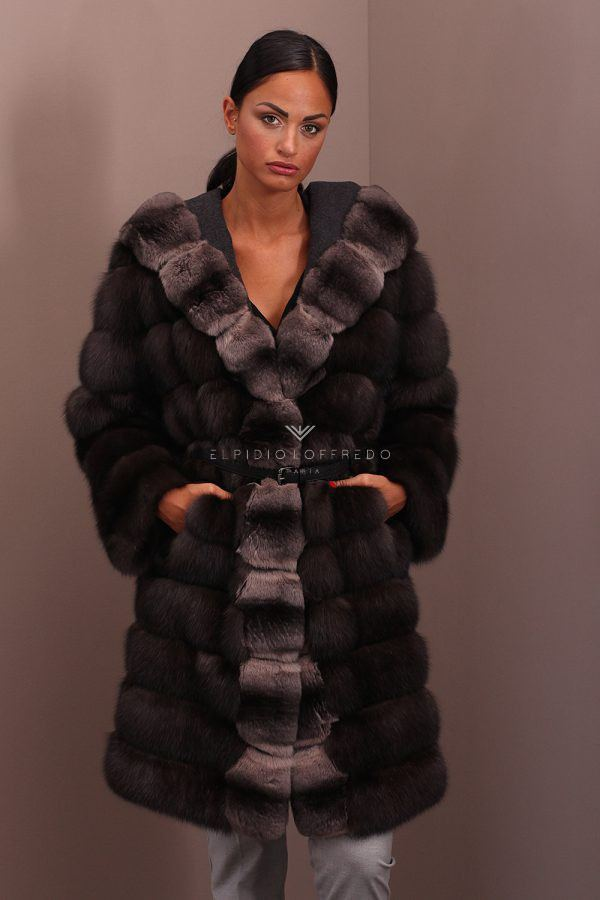 Barguzinsky Russian Sable with Chinchilla Fur - Brown Color - Length 100 cm