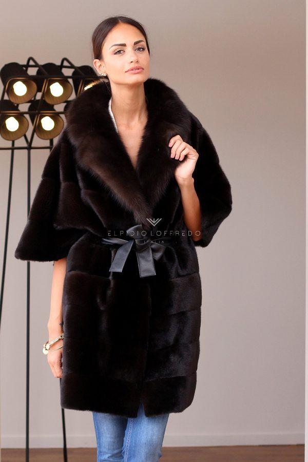 Barguzinsky Russian Sable Fur - Titanio Color - Length 70 cm
