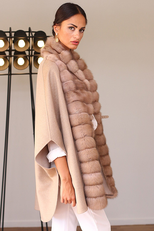 Cashmere Loro Piana with Barguzinsky Russian Sable Fur - Length 75