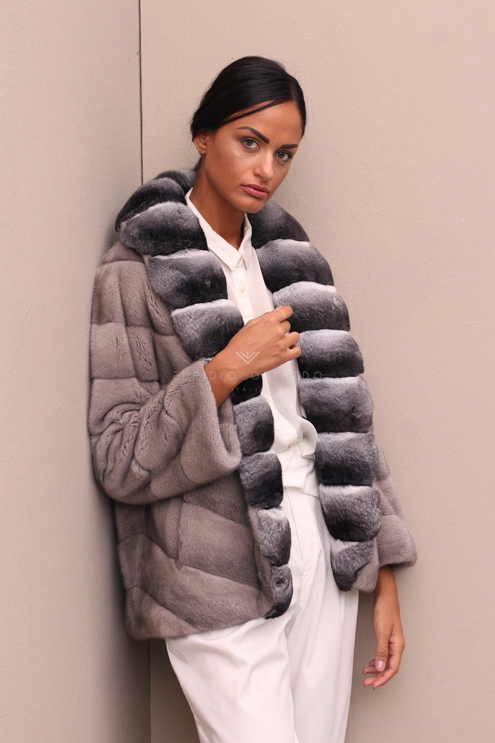 Silverblue Mink with Chinchilla - Length 70 cm