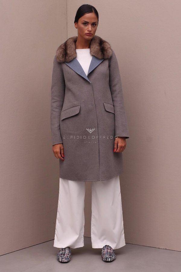 Cashmere Loro Piana Coat with Barguzinsky Russian Sable Fur Collar