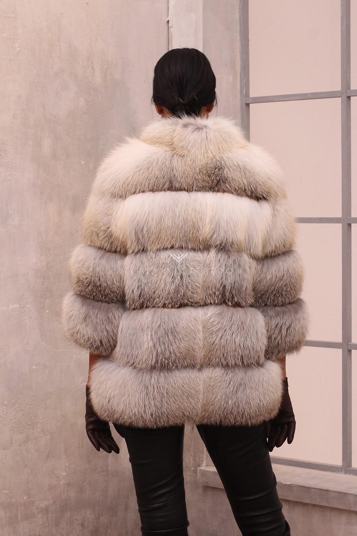 Giacca di Volpe Fawn Light - Lunghezza 70 cm