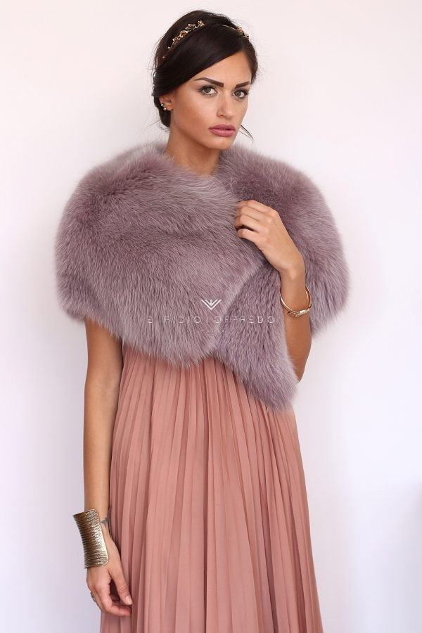 Violet Fox Mantel - Length 30 cm