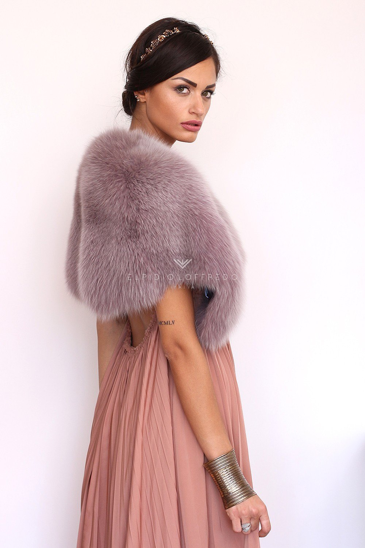 Violet Fox Mantel - Length 30 cm