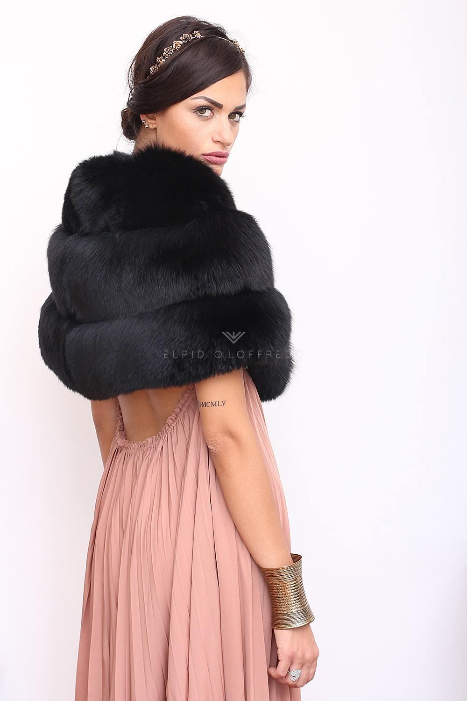 Black Fox Mantel - Length 30 cm